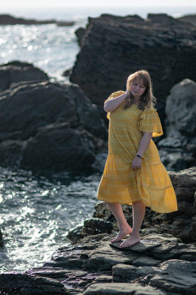 Helen Hobden wearing the perfect summer dress