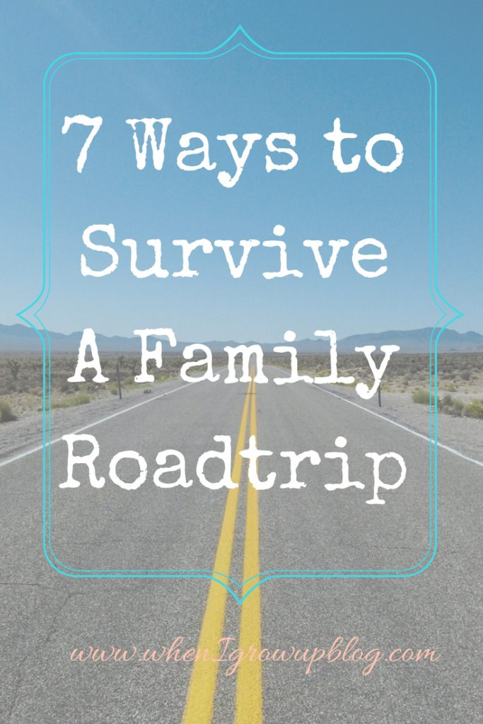 how to roadtrip with kids