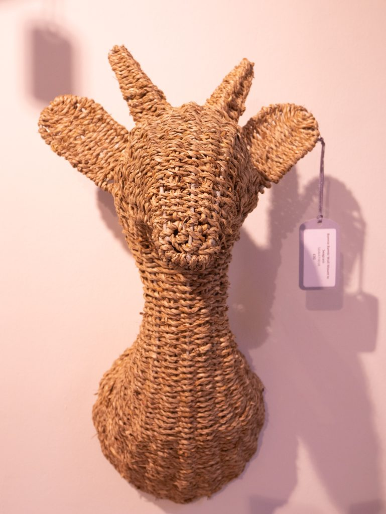Wicker deer head by Feather and Black