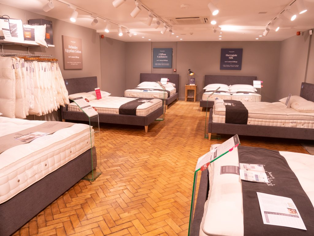 Bed showroom at Bath Feather and Black