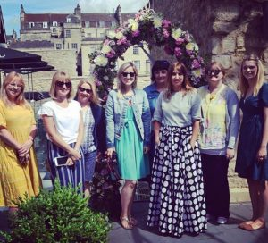 Bloggers at Milsom Place, Bath, Somerset