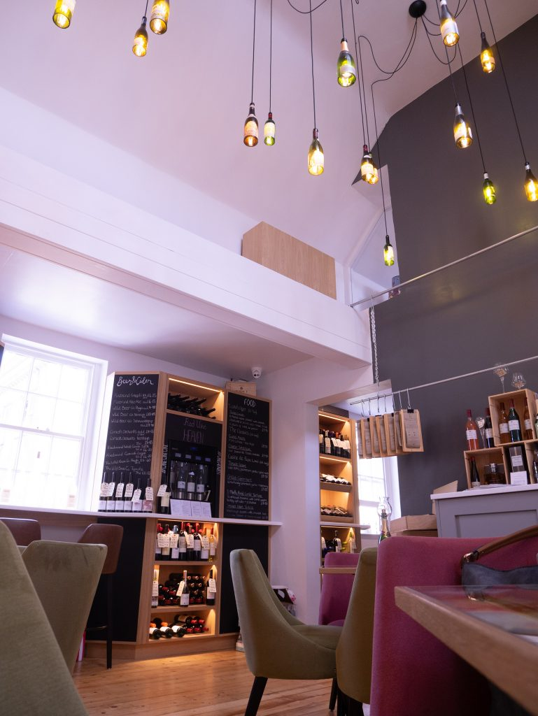 Wine lounge interior, Le Vignoble at Milsom Place