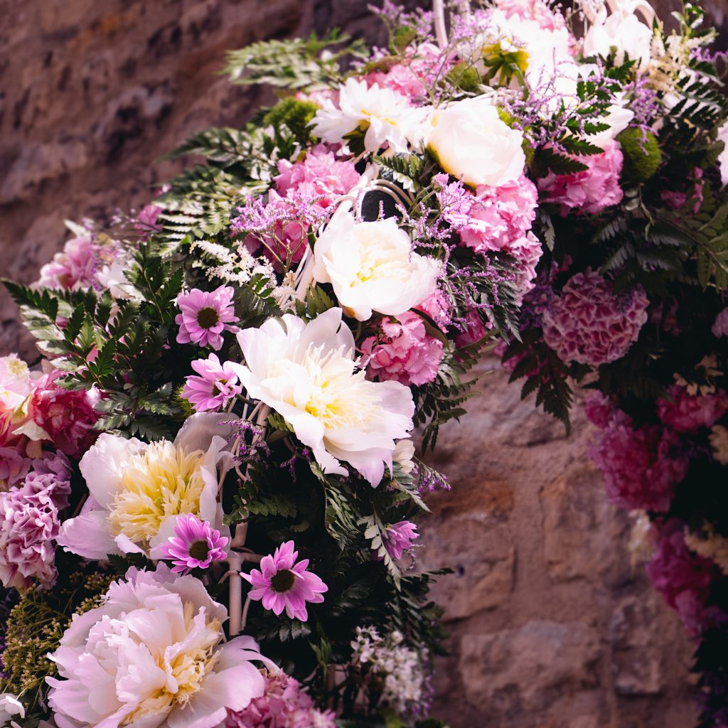 Floral archway flowers