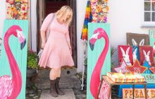 styling a pink dress