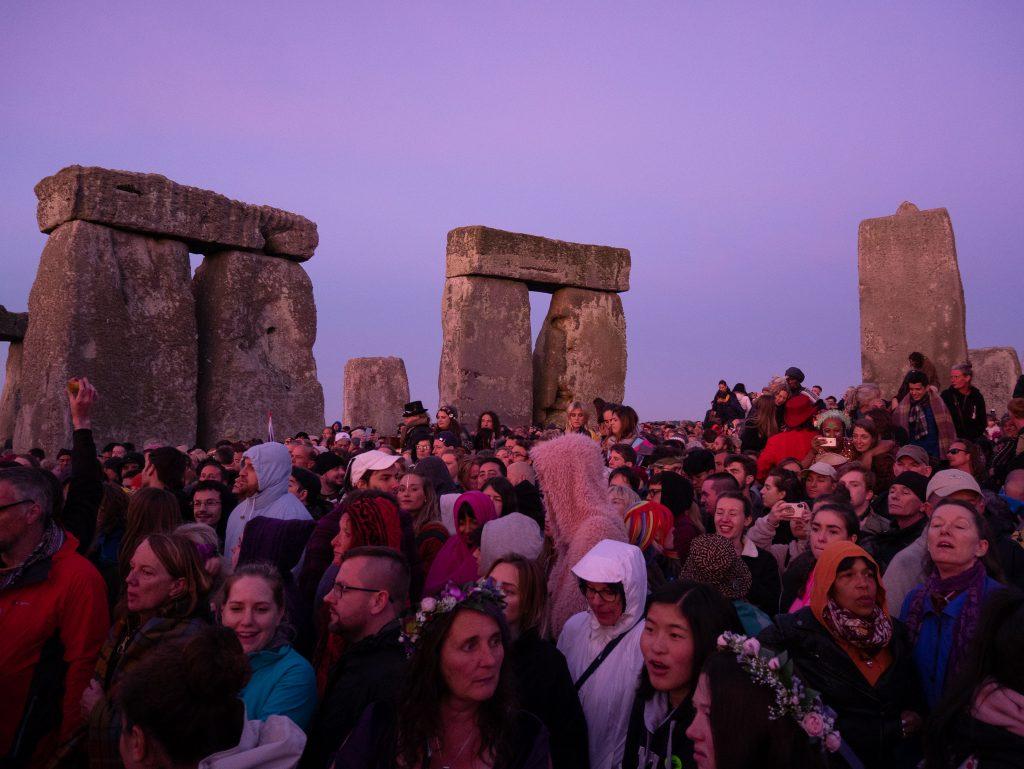 crowds at stonehenge festival
