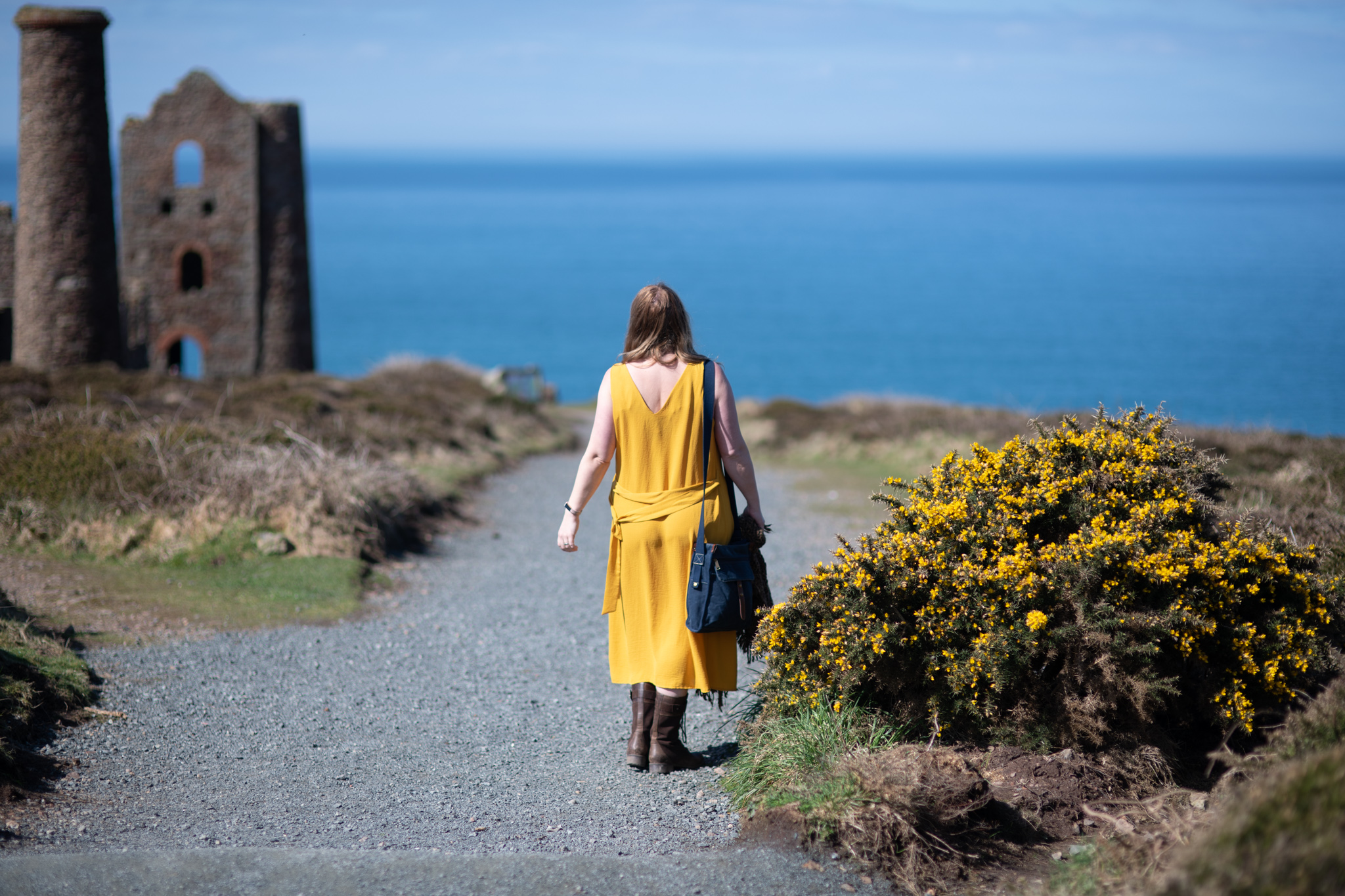 Styling a mustard yellow dress