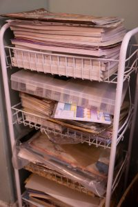 crafting paper storage rack
