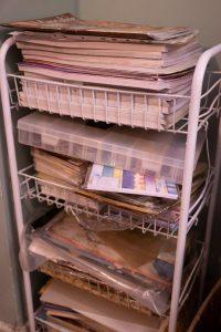 crafting paper storage rack