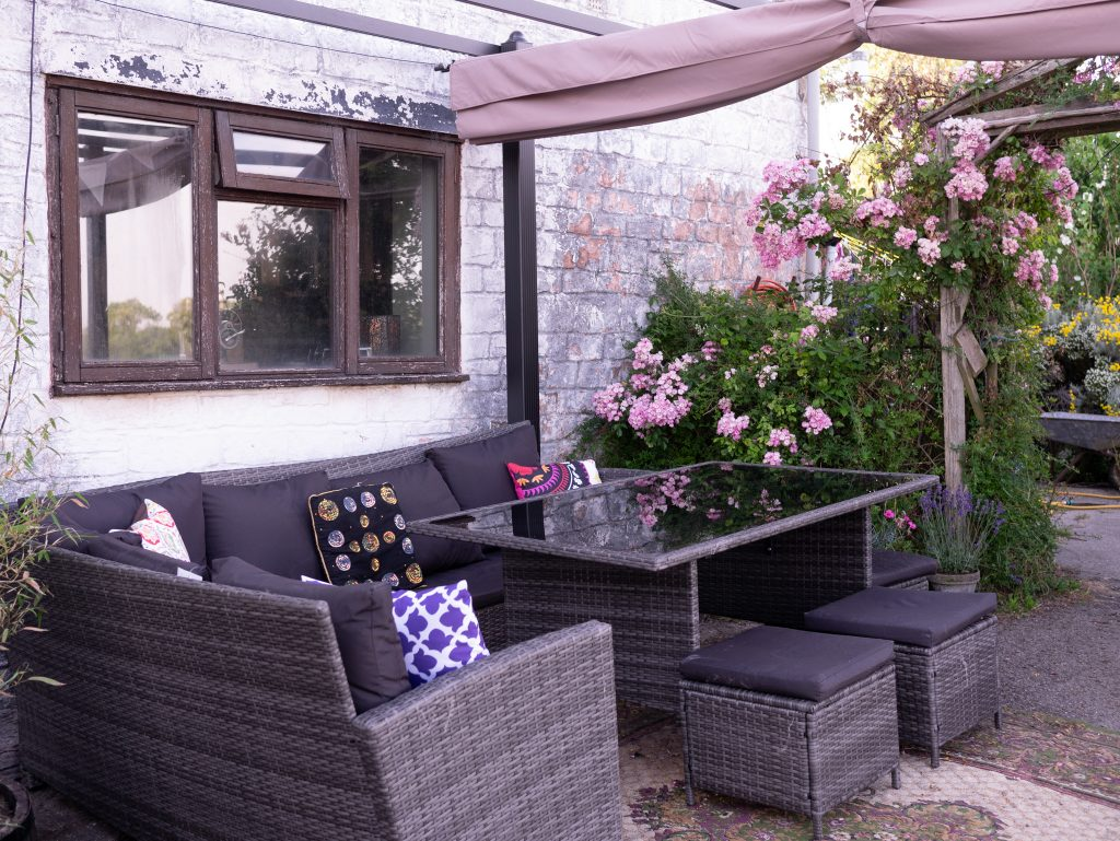 Making an outdoor eating area