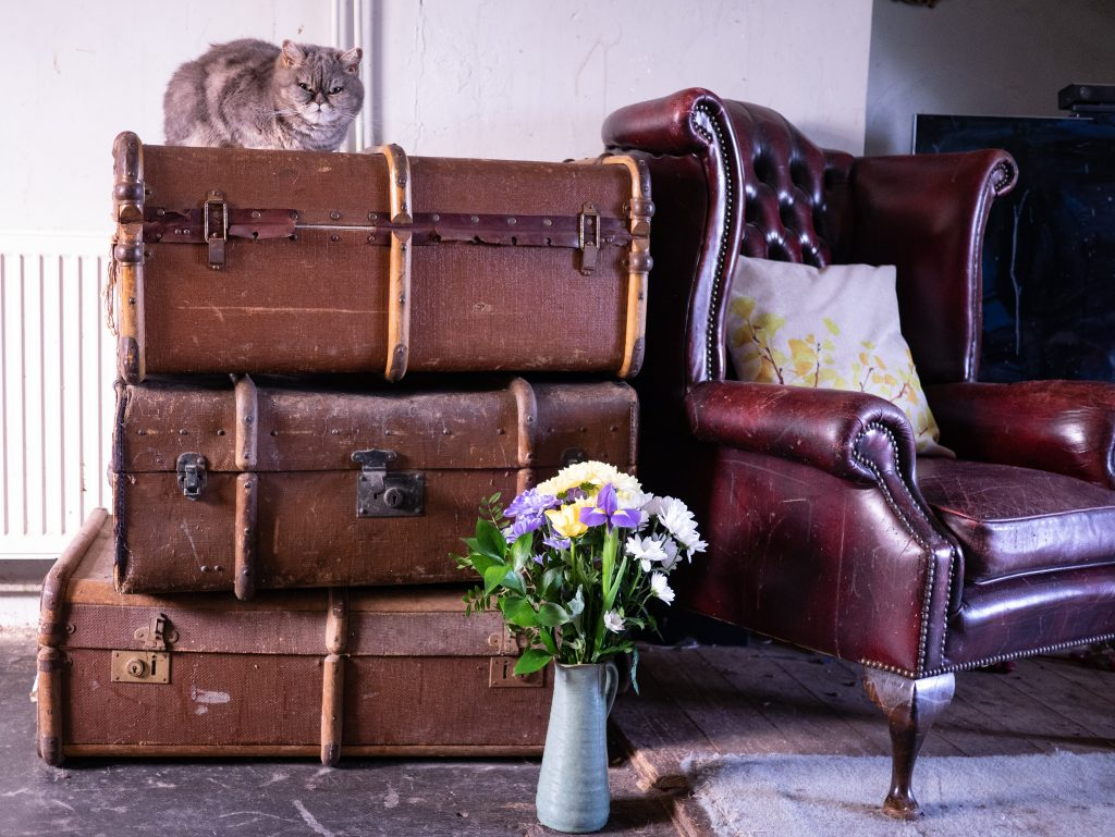 Vintage suitcases - tips about emigrating