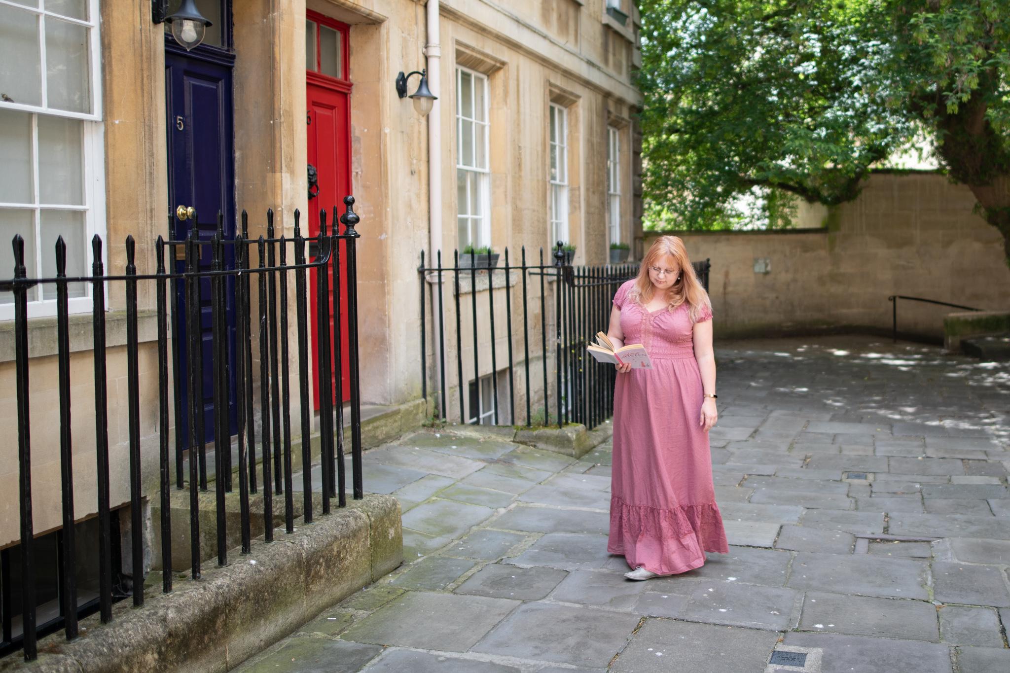styling a pink maxi dress