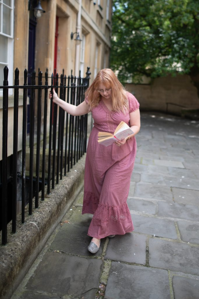 Jane austen style dress in Bath