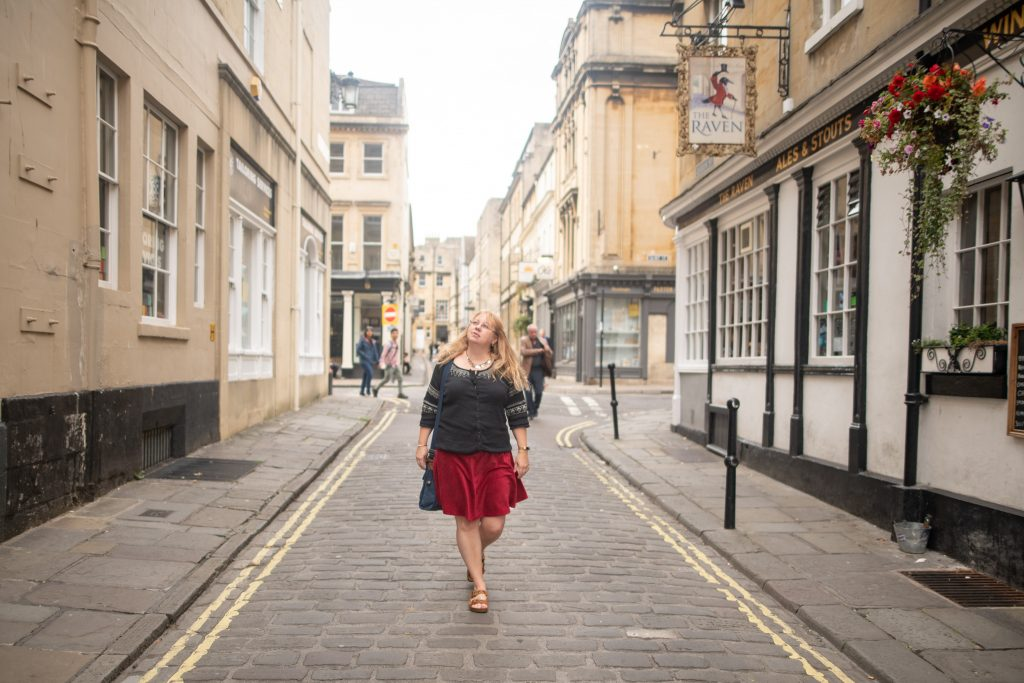 Styling a red corduroy skirt