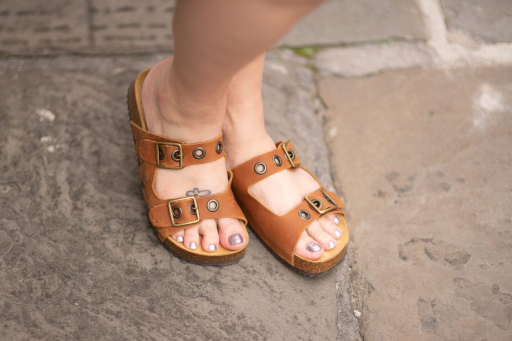 Styling brown sandals