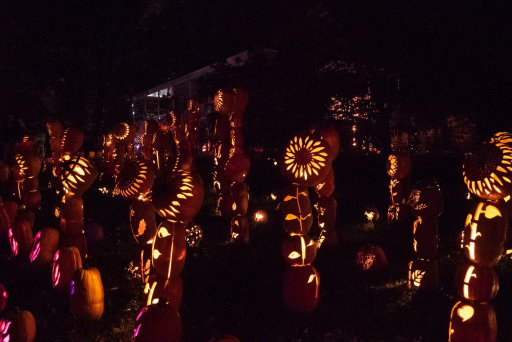 The Jack o'lantern blaze