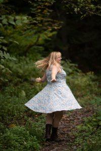 floral 50s dress