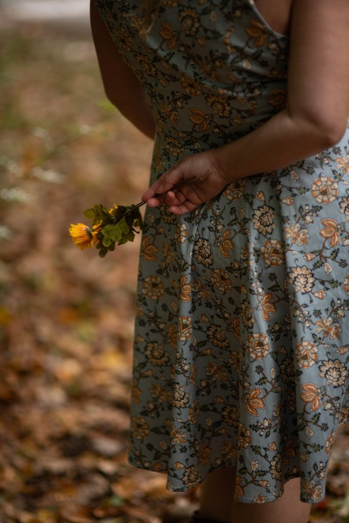 A floral 1950's style dress