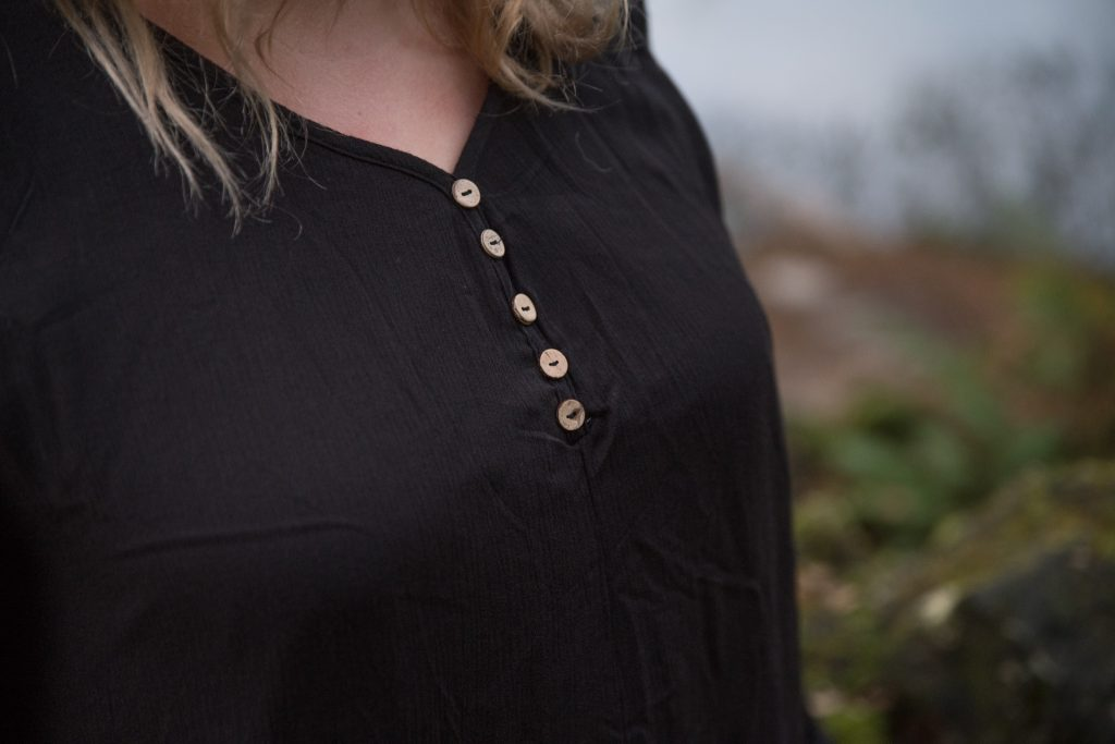Black dress detail