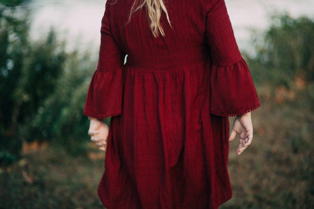 A bohemian style dress