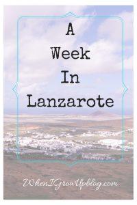 a week in lanzarote
