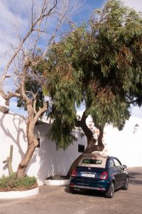 Renting a convertible Fiat 500 in Lanzarote