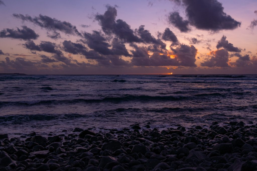Sunset at Playa de Janulo during a week in Lanzarote