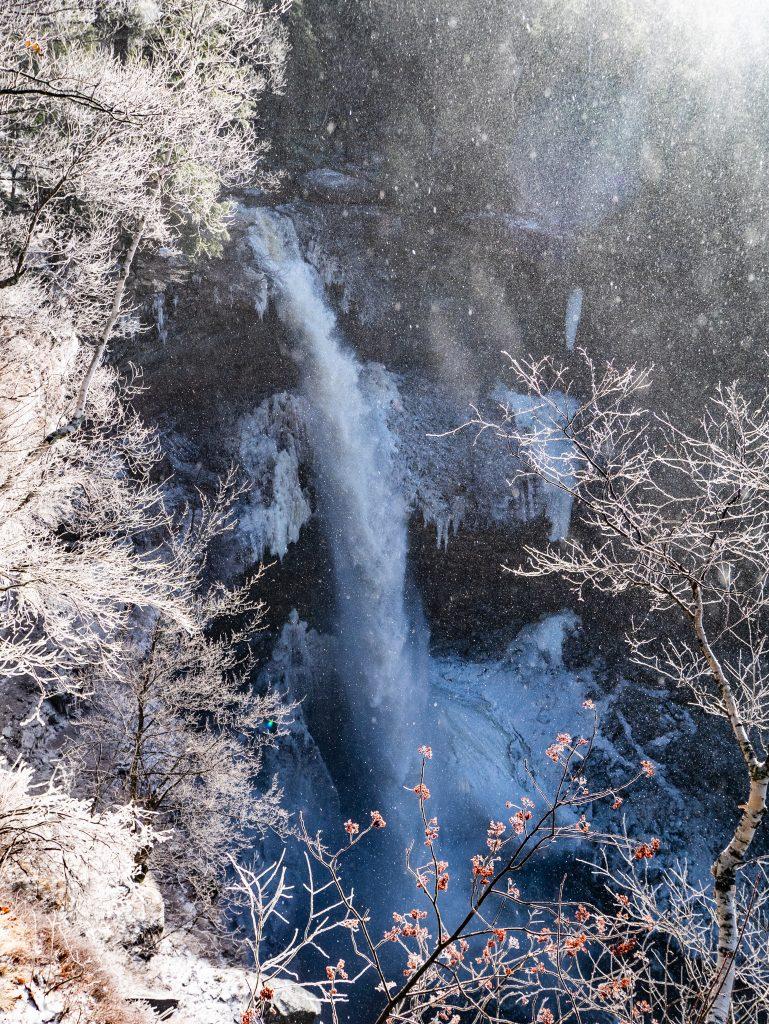 Frozen Kaaterskill Falls in winter