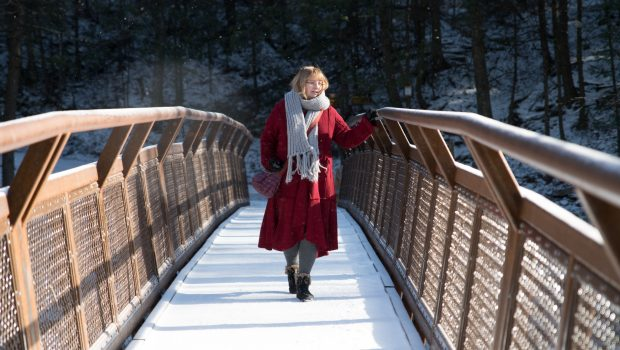 Visiting Kaaterskil falls in winter
