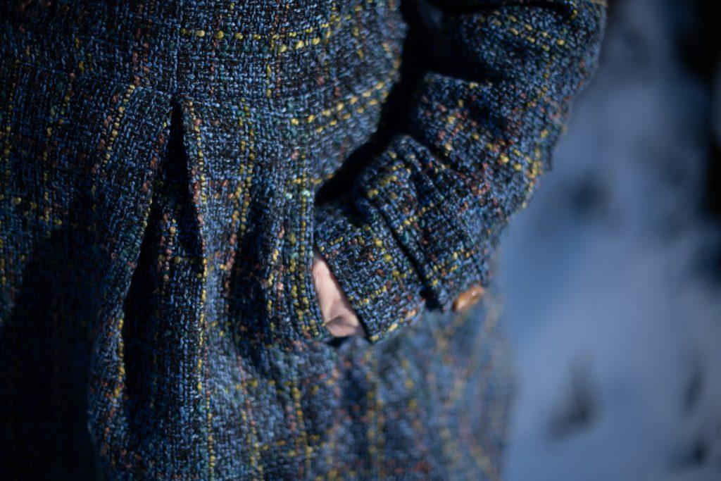 Blue plus size coat