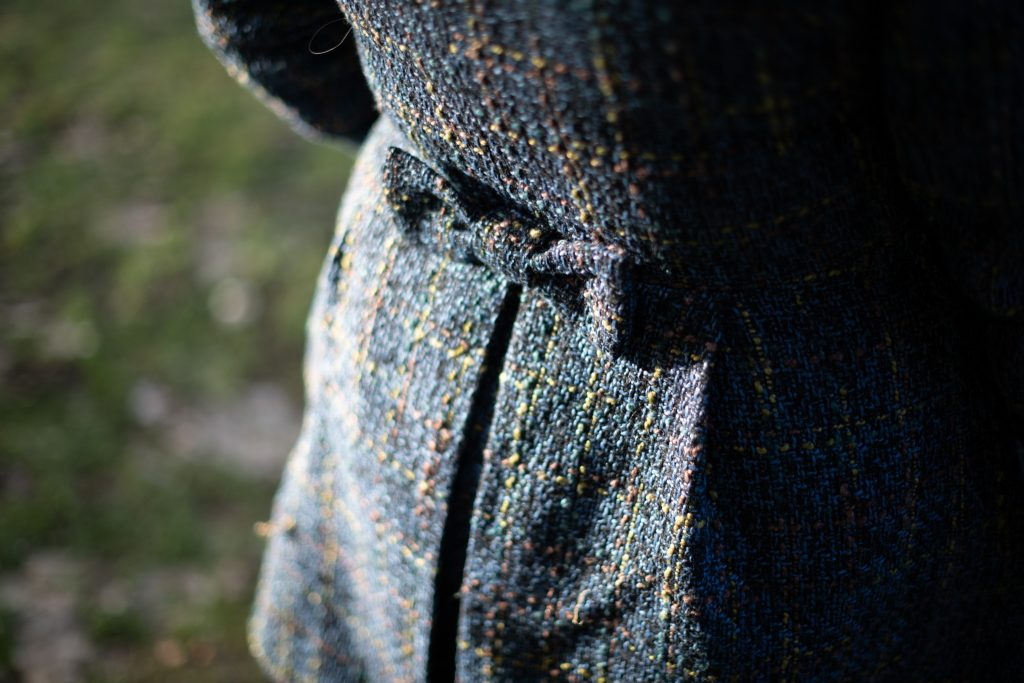 Cute bow detail on blue coat