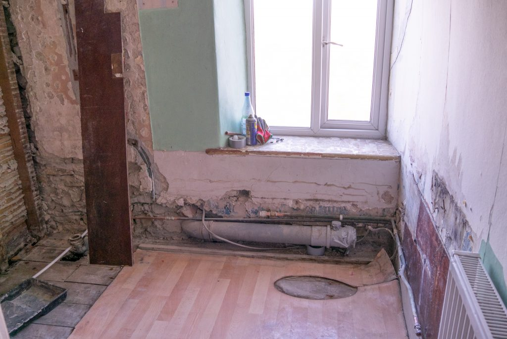 Bathroom renovation blog - end of day one