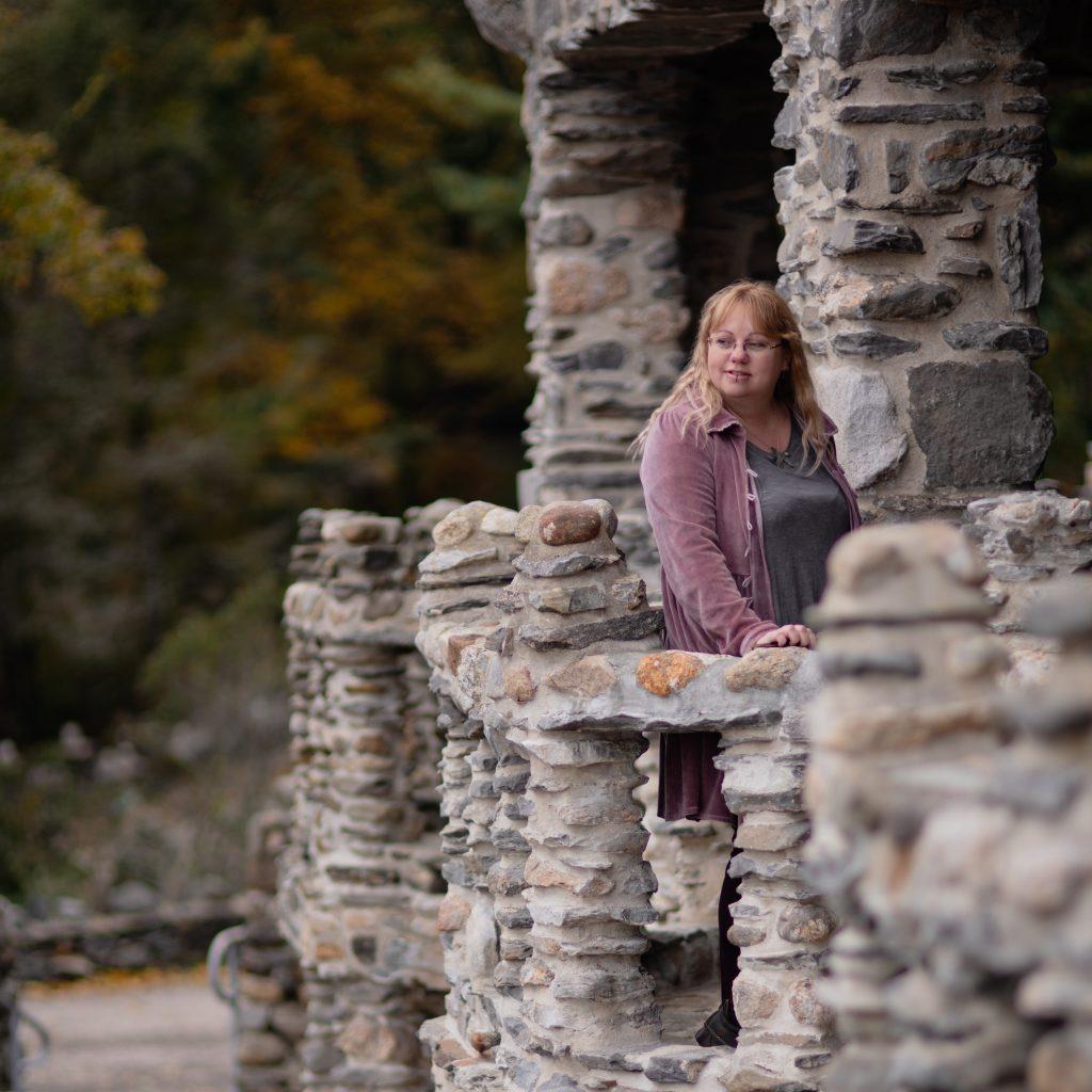 Fashion blog photos at Gillette Castle State Park