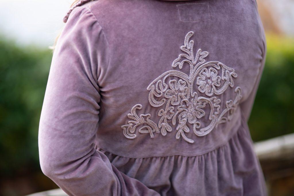 Jeanne d'arc living velvet coat