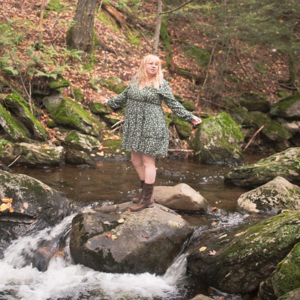 Styling a floral smock dress