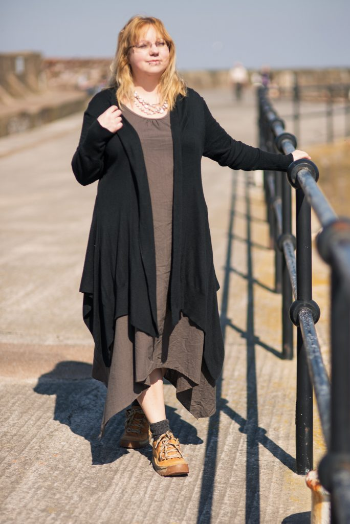 Styling a black waterfall cardigan