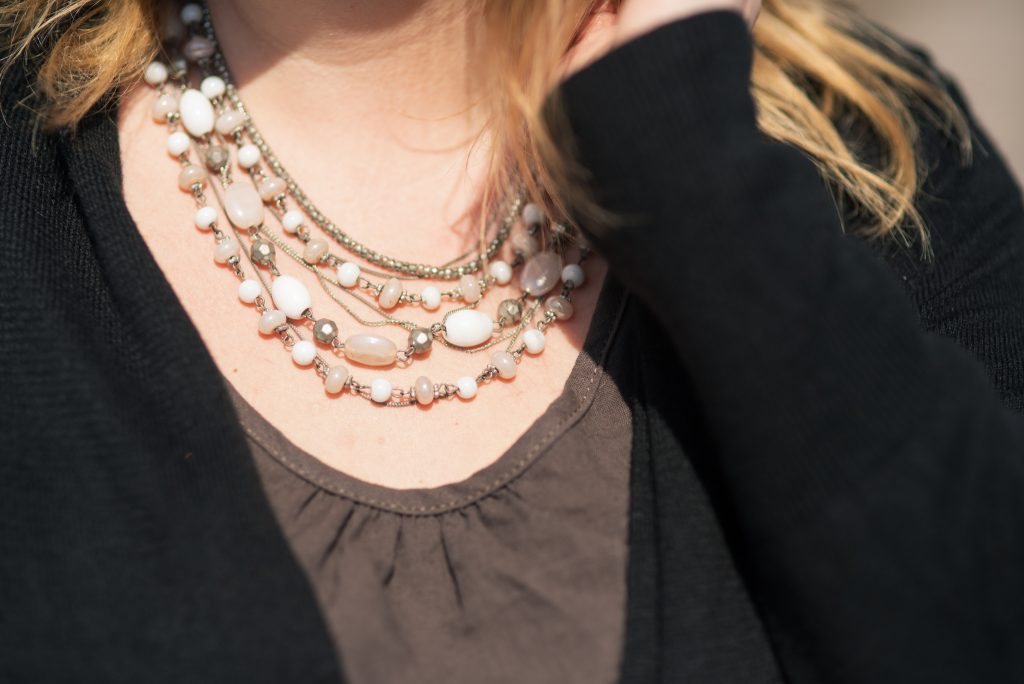 A bohemian layered necklace