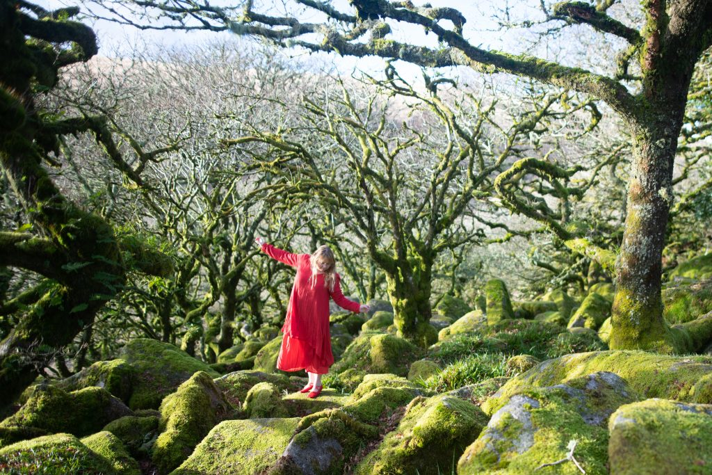Pagan clothing - styling a floaty red dress