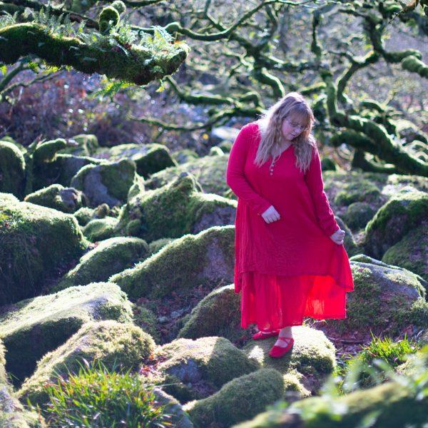 Red goddess dress