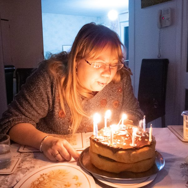 British blogger over 40 plowing out birthday candles