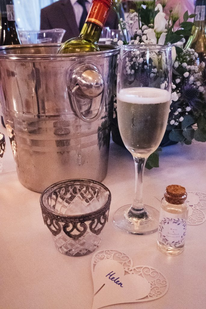 Champagne at a wedding - blog diary