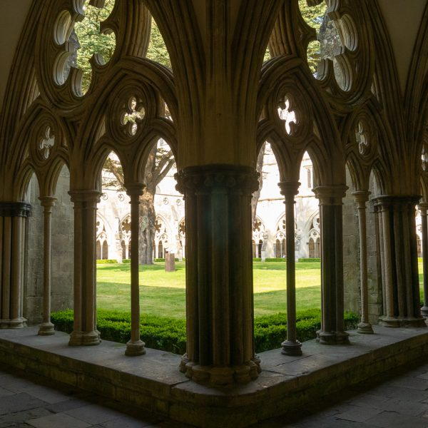Visiting Salisbury Cathedral cloisters