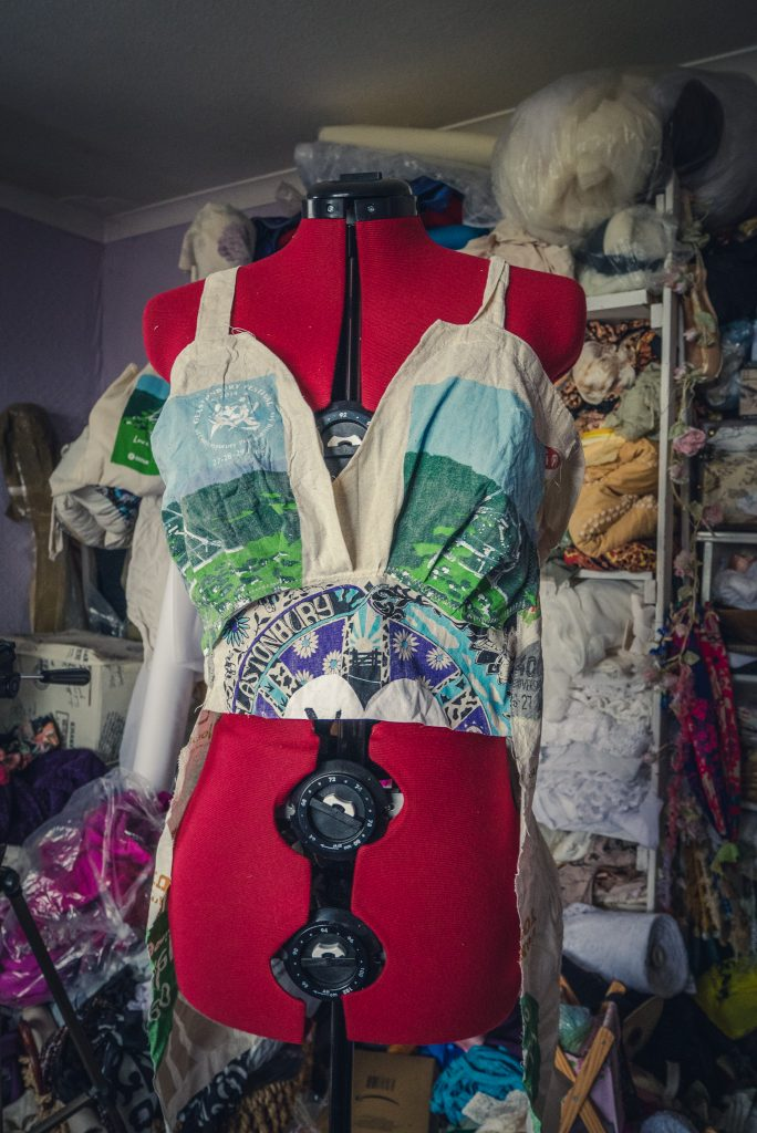 Making a Glastonbury Festival dress