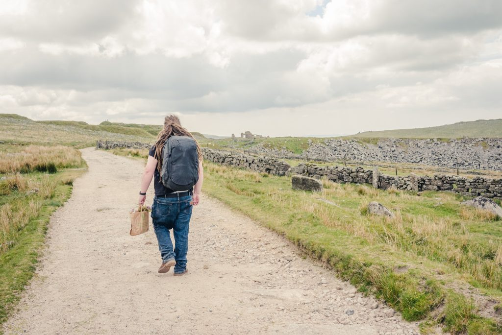 Walking to Foggintor quarry on Dartmoor