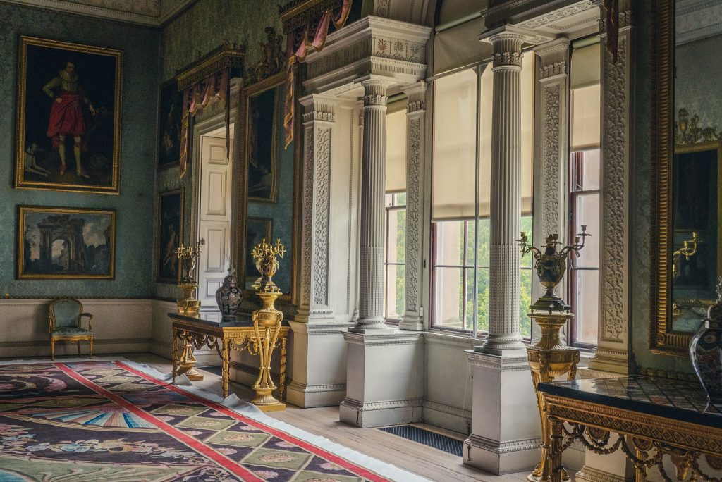 visiting Saltram house in Devon