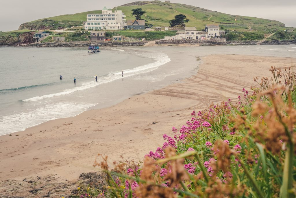 Bigbury Beach and Burgh Island Devon