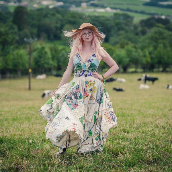 Glastonbury festival wedding dress