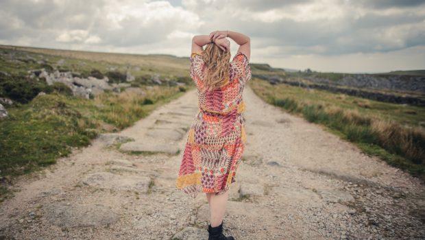 F&F coral vintage dress