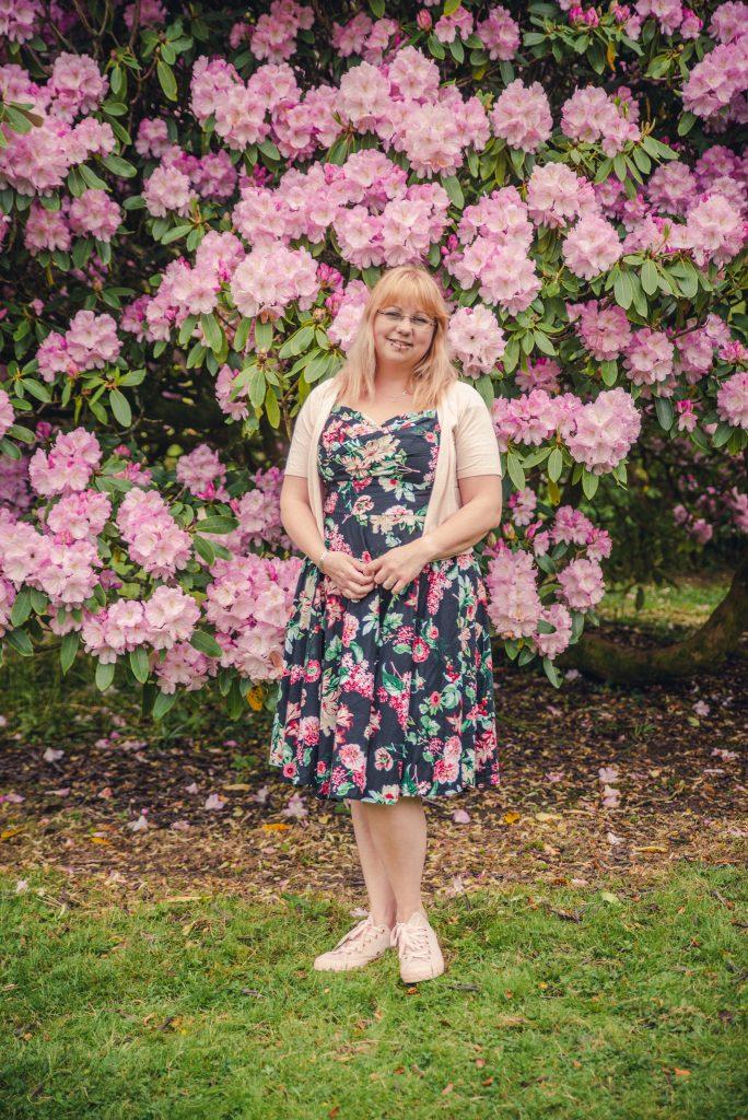 floral 1950s dress