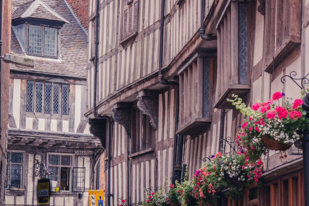 Tewkesbury wattle and daub buildings