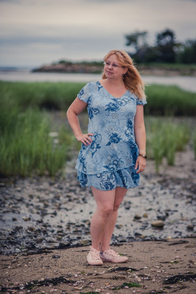 Styling a blue floral dress
